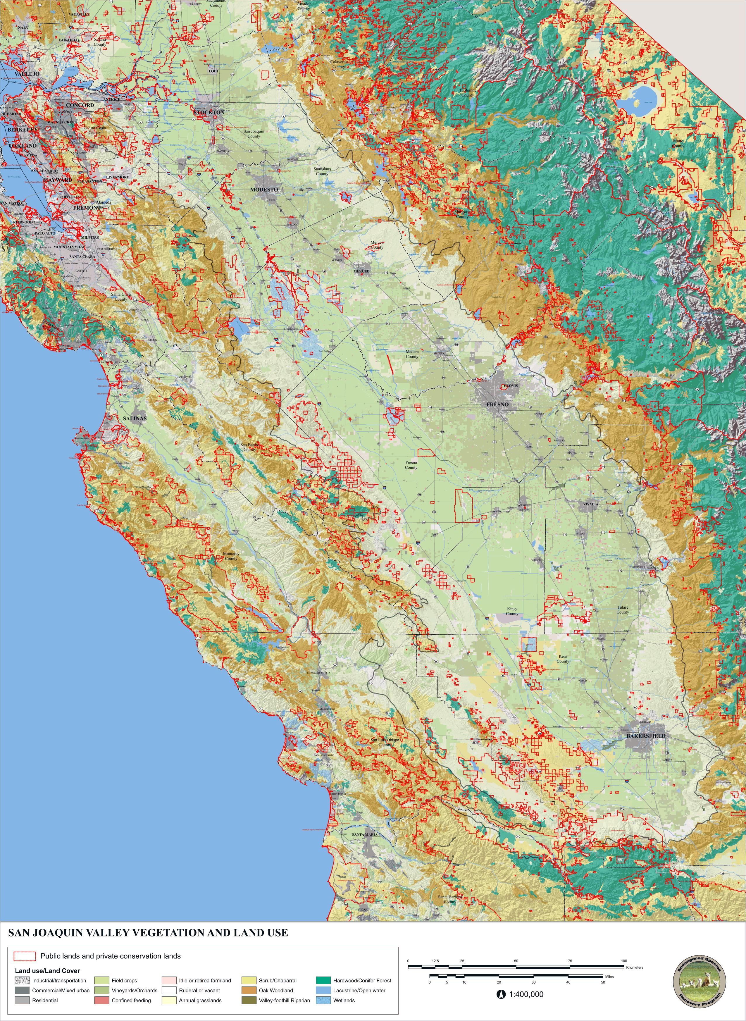 Orange Grove California Map.Endangered Species Recovery Program Data And Maps