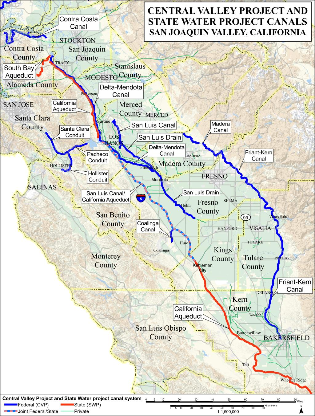 Map Of California Central Valley.Endangered Species Recovery Program Data And Maps